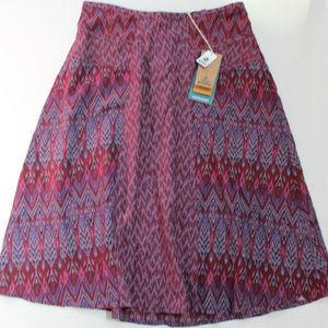 prAna Isadora Skirt Ikat Print Black Cherry Laurel
